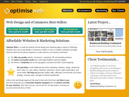 Optimise Web Screenshot